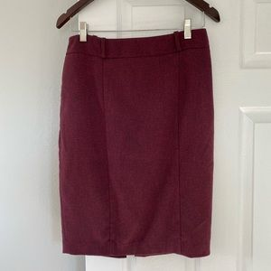 MAROON PENCIL SKIRT MASSIMO SIZE 8